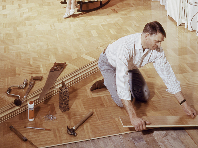 1958 - First factory-lacquered floors