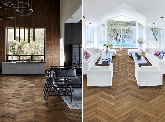 Chevron vs herringbone pattern